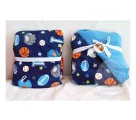 CARTERS -  BABYBLANKET NAVY BALL GAME