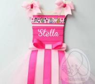 PERSONALIZED TUTU HAIRBOW HOLDER-PINK PRINCESS