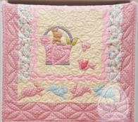 LINEN & LACE -  BABY BLANKET RABBIT QUILTING
