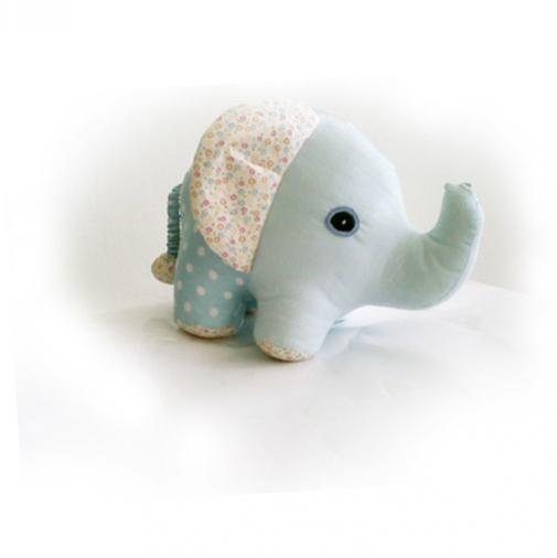 LINEN & LACE - SMALL FABRIC ELEPHANT BLUE